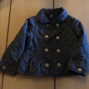 BabyGap Quilted Navy Pea Coat, size 2 & size 3